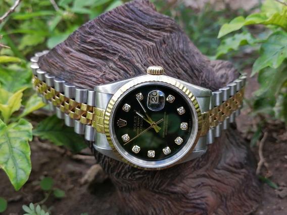 Rolex Date Justo Con Diamantes Originales Rolex Ref. 16233