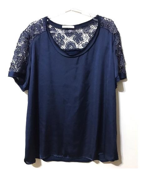 Blusa Social Marinho Moda Plus Size 48 Casual Chic