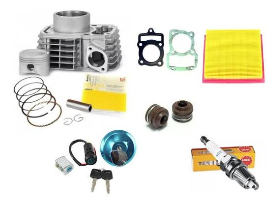 Kit Motor Fan125 2010 A 2013 + Vela + Filtro + Kit Chave