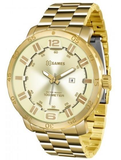 Relógio Xgames Xmgs1022 C2kx Masc Champagne Dourad- Refinado