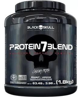 Protein 7 Blend 1.8kg - Black Skull - Isoladas + Wpcs + Wphs