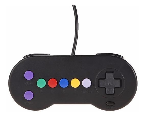 -ontrole Joystick Usb Super Famicom Snes Retro Modificado