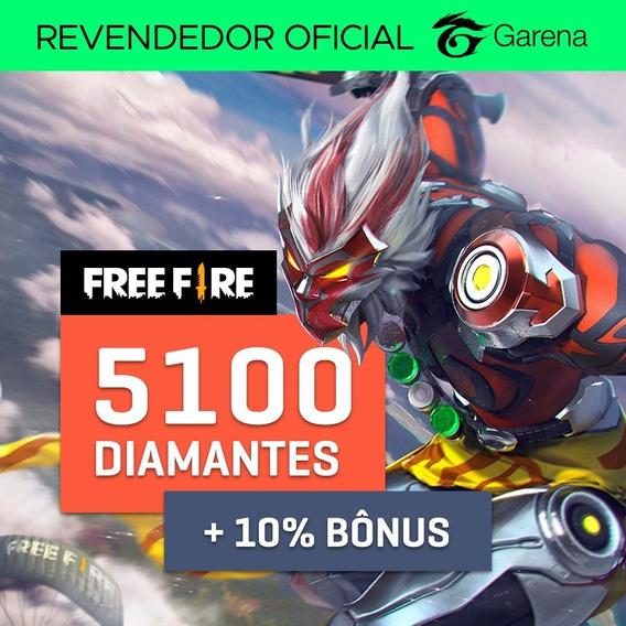 Diamantes Free Fire - 5100+510 Bônus (5610) Recarga Na Conta