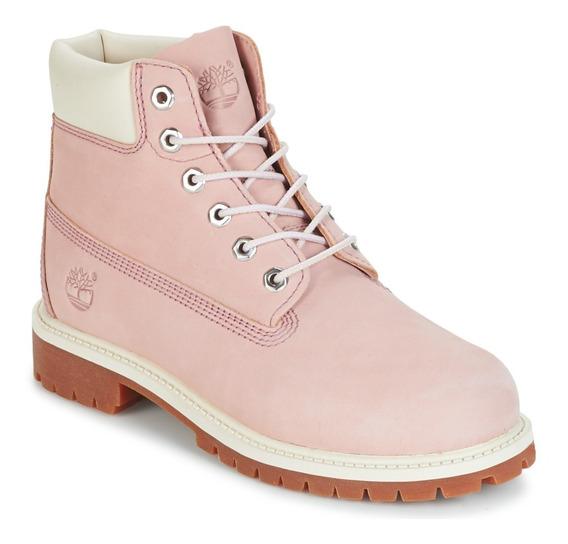 Bota Timberland Yellow Boot 6 Premium Feminino Rosa Original