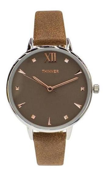 Reloj Thinner 10102 Café Pm-7210343