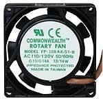 Riqueza Común Fp-108ax-s1-b-r (115) 115 Vac Ventilador Axial