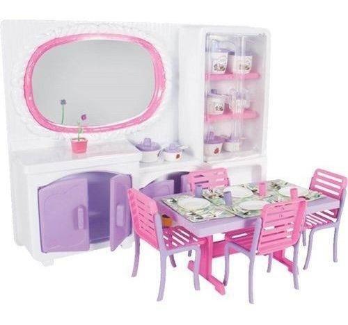 Brinquedo Jogo De Jantar Cristal + Acessórios Lua De Cristal