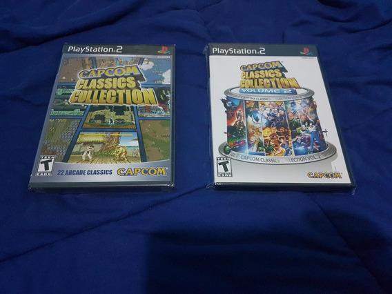 Capcom Classics Volumes 1 E 2 Originais Ps2 Lacrados