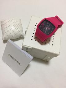 Relógio Diesel Dz 1353 Dz1353 Silicone Rosa Pink Original
