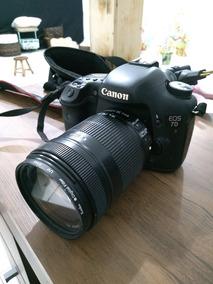 Câmera 7d Acompanha Lente 18-135 Excelente Câmera 150k Click