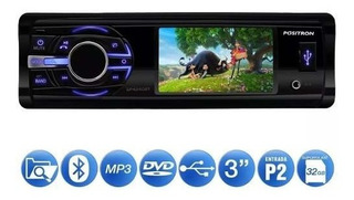Dvd Player Pósitron Sp4340bt 3p Bluetooth Usb Aux Cd Dvd Fm