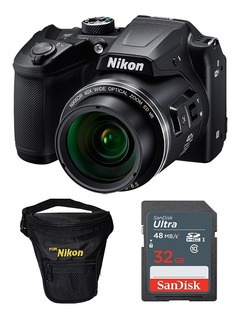 Cámara Nikon Coolpix B500 16mpx Full Hd + 32gb + Estuche.