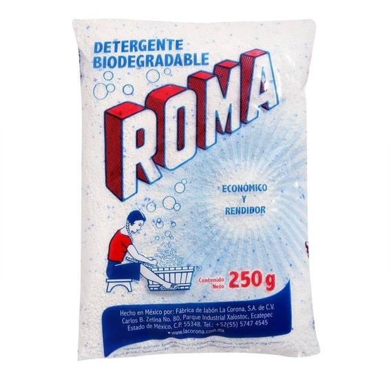 Detergente En Polvo Roma Multiusos Biodegradable 250 Gr