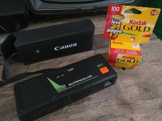 Câmera Fotográfica Canon Anos 80/90 + Filme Fotográfico