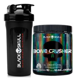 Bone Crusher 300g + Coqueteleira - Black Skull