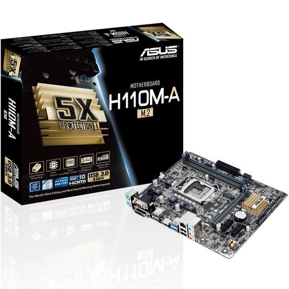 Placa-mãe Asus H110m-a/m.2 Intel Lga 1151 Ddr4 Matx