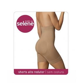 Shorts Alto Redutor Sem Costura Chocolate G Selene