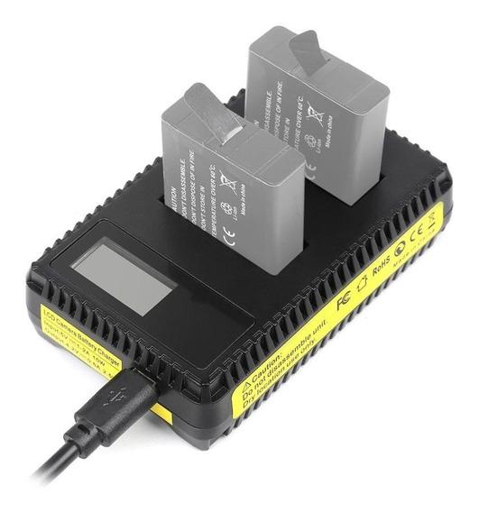 Carregador Duplo De Bateria Para Câmeras Gopro Hero 3, 3+ Com Digital