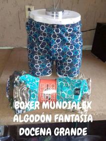 Boxer Mundialex Algodon Unitalla Grande Al Mejor Precio