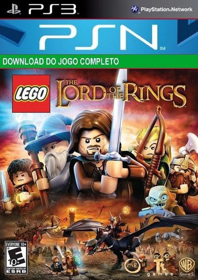 Jogo De Ps3 Lego Senhor Dos Aneis Digital Psn Original