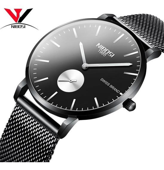 Relogios Masculino Nibosi Relógios Fino Homens Unisex Relógi