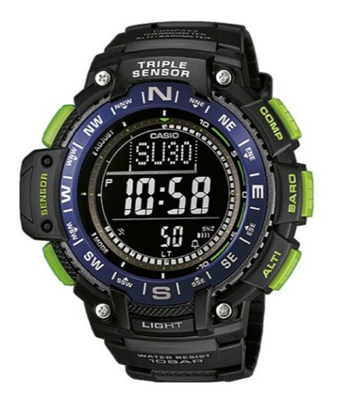 Relogio Casio Sgw-1000-2bcf Outgear Bussola Altimetr: Em 12x