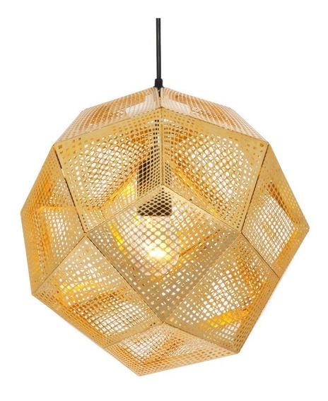 Lámpara Colgante Acero Inoxidable Perforada Grande
