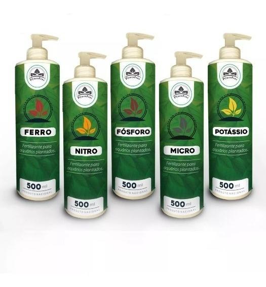 Fertilizante Liquido Aquário Plantado Kit Completo