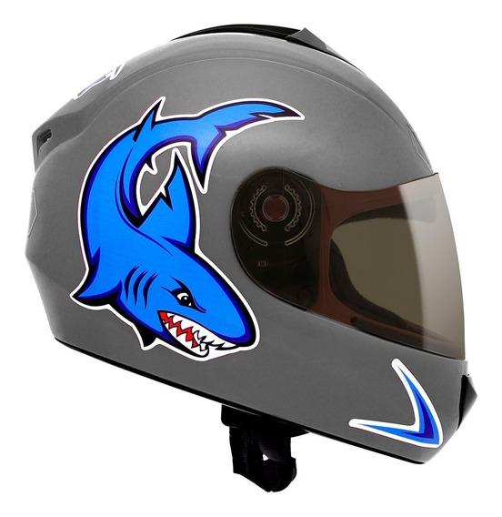 Capacete Fly Fun Shark Infantil Super Lançamento