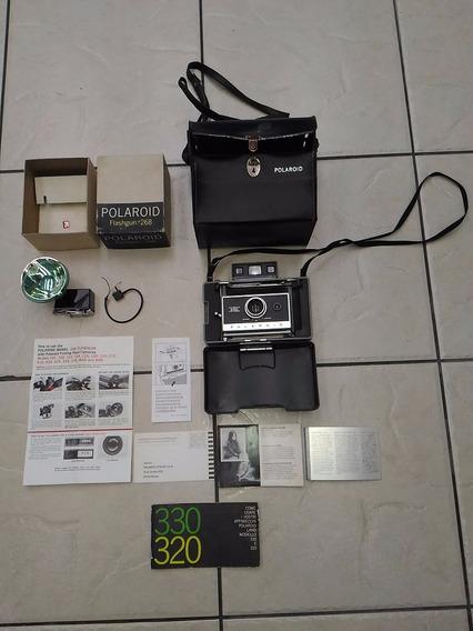 Sh - Camera Polaroid 330 C/ Acessorios Usada E No Estado