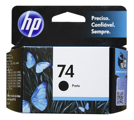 Cartucho De Tinta Hp 74 5,5ml Cc335wb - Preto