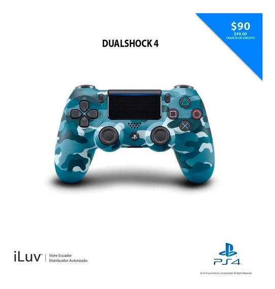 Control Ps4 Dualshock 4 Camuflado Azul