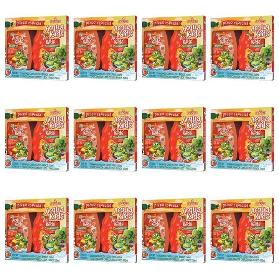 Acqua Kids Estojo Lisos E Finos Sh + Cond 250ml (kit C/12)
