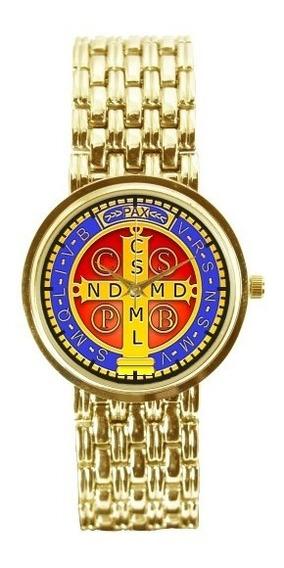 Medalha De São Bento Relógio Personalizado Feminino Dou 3330