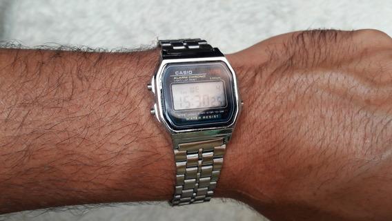 Relógio Casio Vintage Retrô Unissex Dourado/prata/chumbo