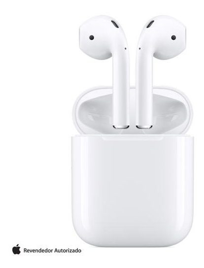 Fone Ouvido S/ Fio Apple AirPods Headphones Mv7n2be/a