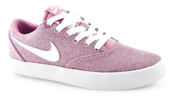 Tênis Nike Wmns Sb Check Cvs 921464-610 Feminino Pink-branco Original