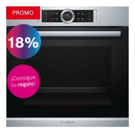 Horno Bosch Serie 8 Hrg635bs1 Display Touch + Vapor Añadido