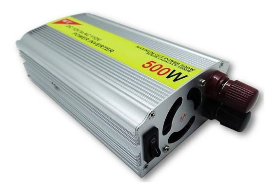 Conversor Transformador 500w Inversor 12v 110v Veicular+ Nf