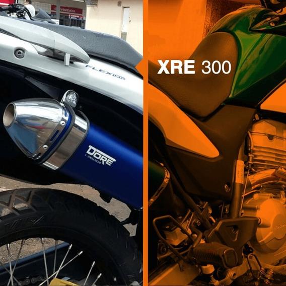 Ponteira Completa Xre300 Curva De Inox