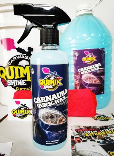 Imagen 1 de 3 de Cera Carnauba Para Vehículos Quimik Shine 500ml -carcareshop