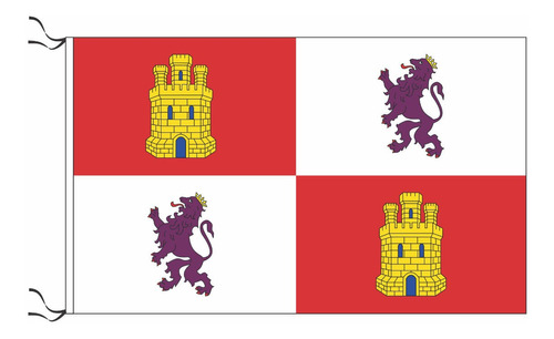 Bandera Medieval De Castilla Y León 90 X 60cm