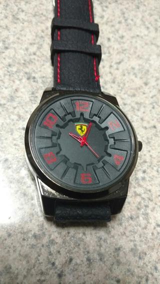 Reloj Ferrari Negro Grande 45mm Quarzo Excelente