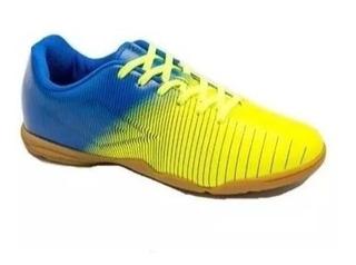 Tenis Umbro Futsal Masculino Indoor Vibe Amarelolum/azul