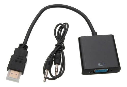 Imagen 1 de 7 de Convertidor De Hdmi A Vga Con Sonido (incluye Cable Audio)
