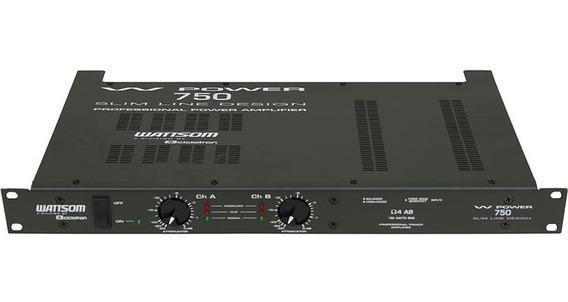Amplificador Potencia Wattsom 188 Wrms Wp750