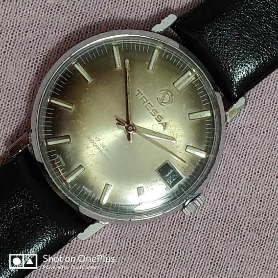 Relógio Tressa Masc. Aço Inox Swiss Made À Corda Perfeito