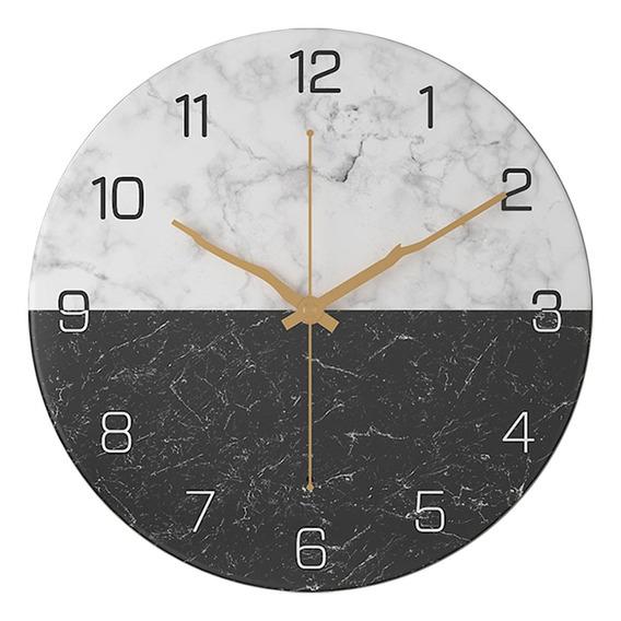 Reloj De Mármol De Hierro Forjado