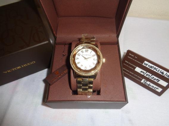 Belíssimo Relógio Victor Hugo Original Vh 10075
