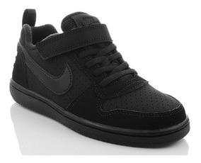 Nike Court Borough Low Black Infantil Original C Nota Fiscal